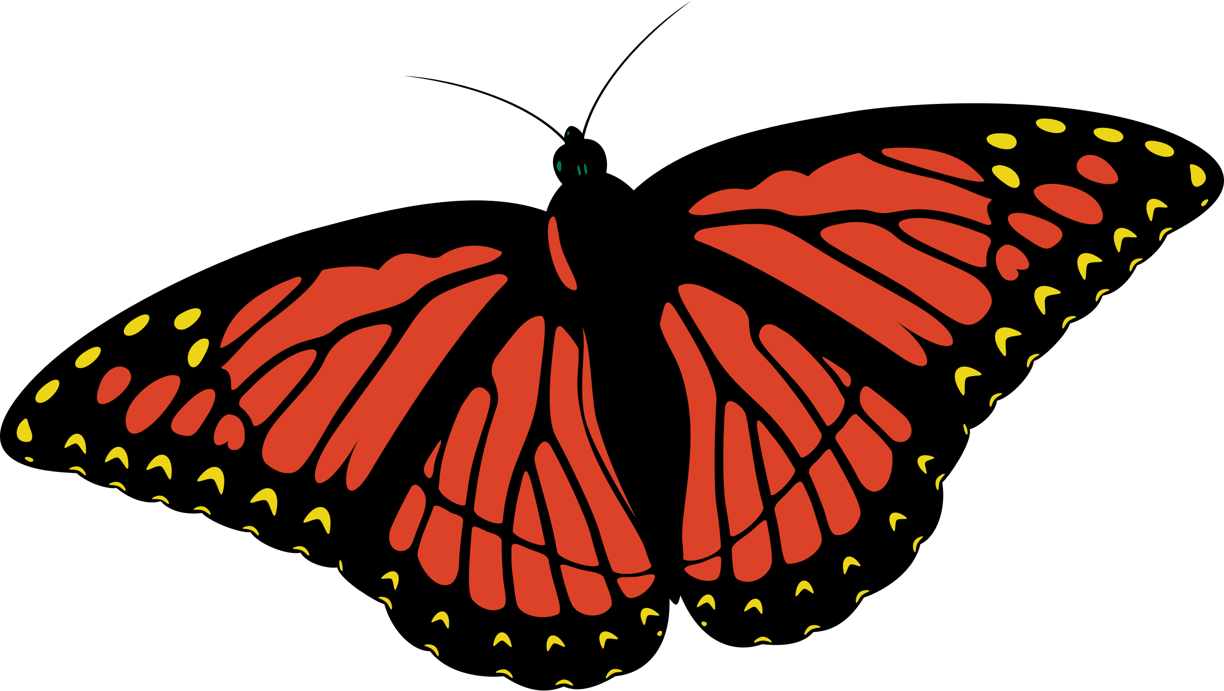 vector library library Monarch clipart. Butterfly