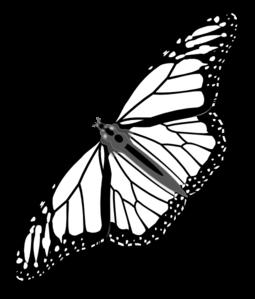 clipart transparent download Butterfly bw clip art. Monarch clipart