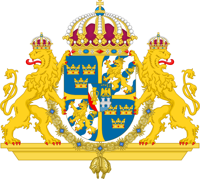 svg freeuse Coat of arms swedish. Monarch clipart viking king.