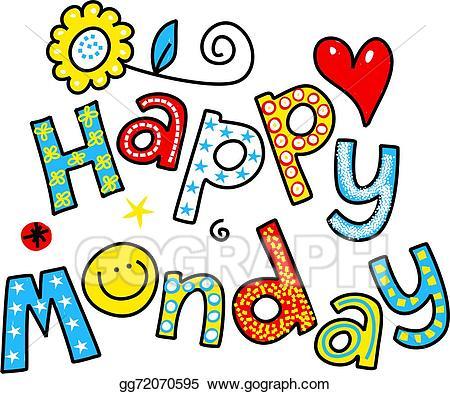 jpg free Stock illustration happy cartoon. Monday clipart