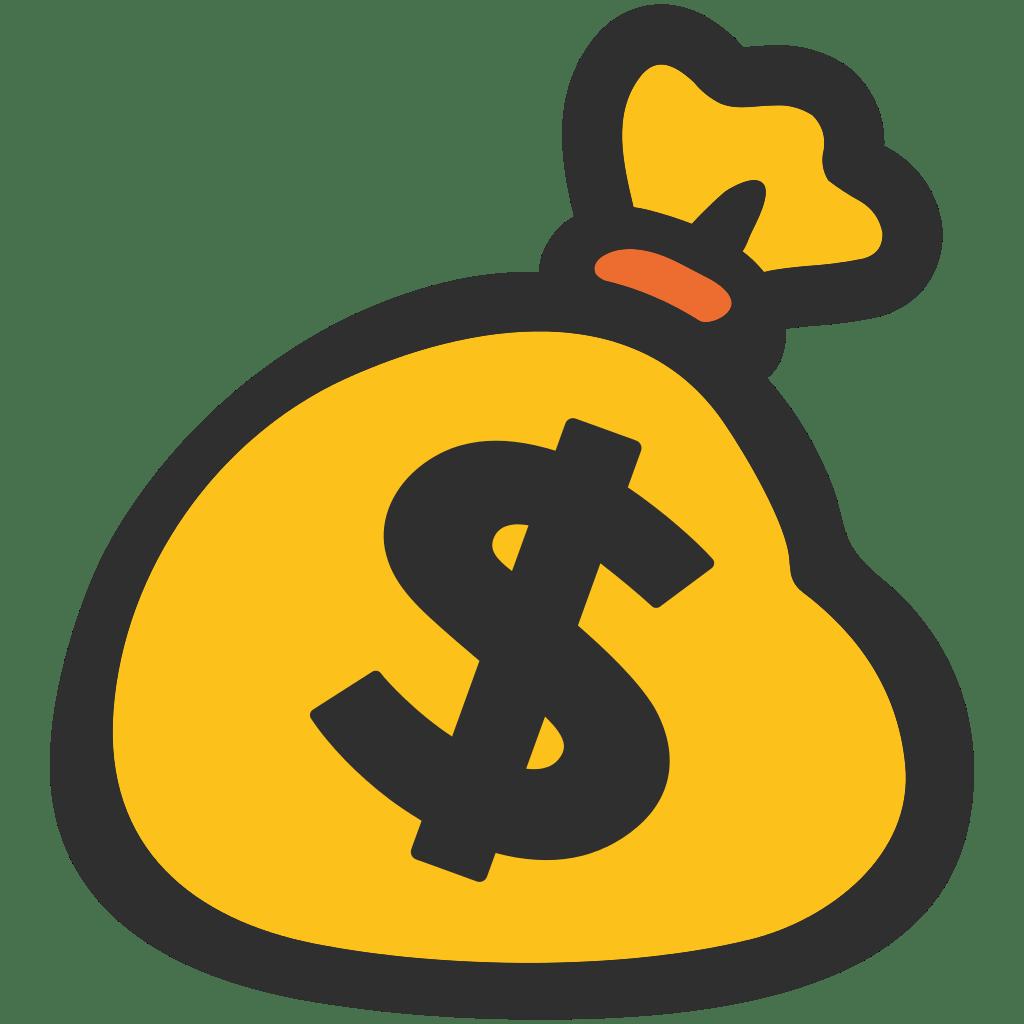 graphic free Money Bag Emoji transparent PNG