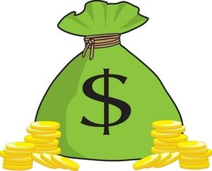 clipart freeuse stock Money clipart. Bag clip art in.