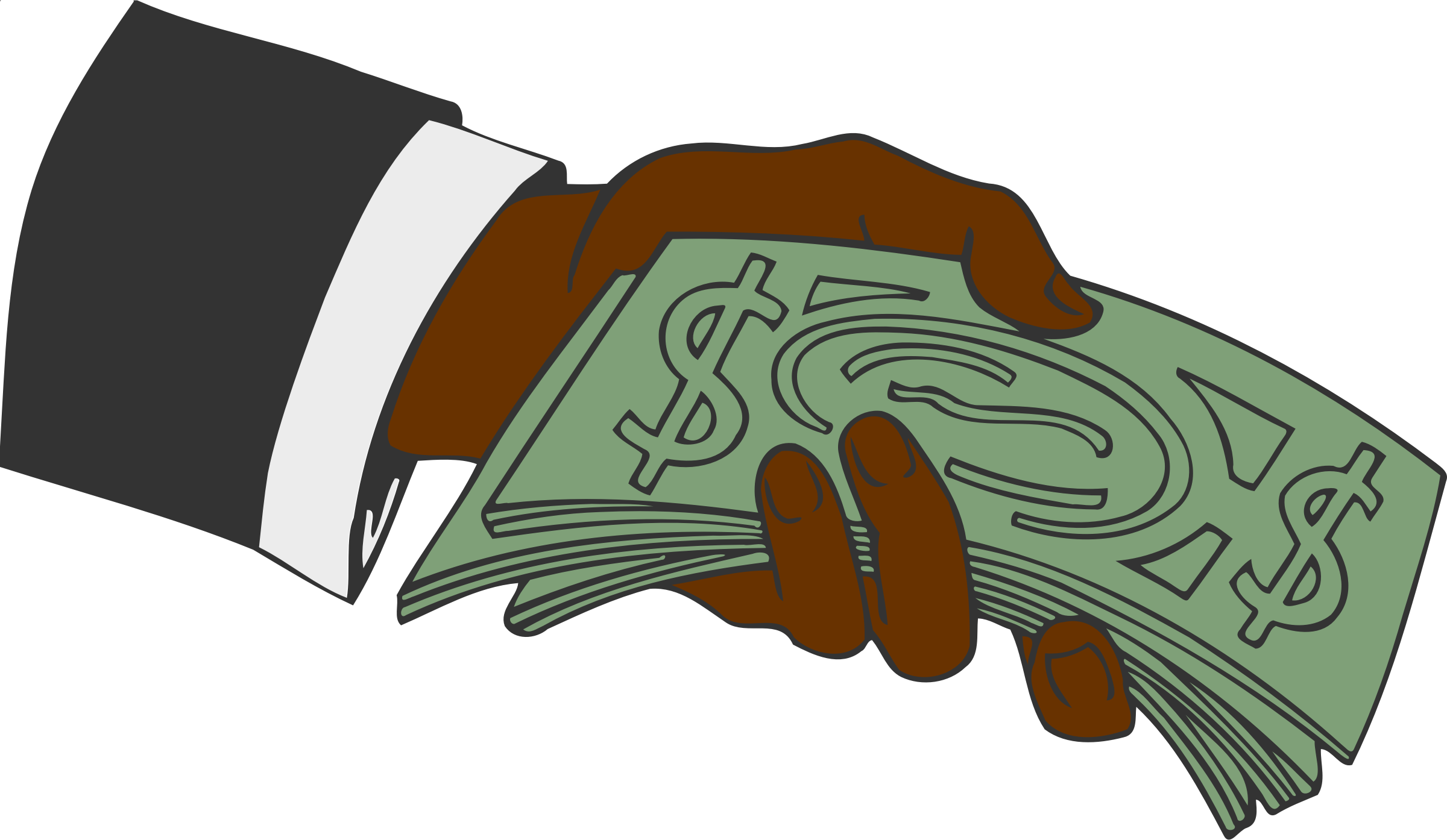 banner royalty free Money clipart. Hand offering big image