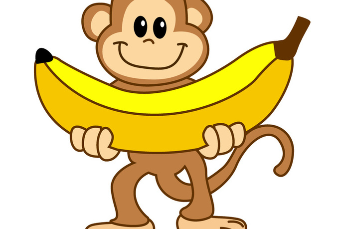 banner transparent download Monkey station . Ape clipart banana