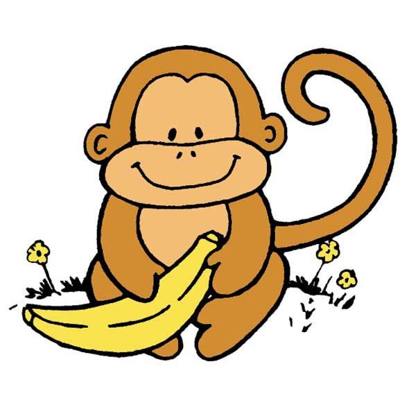 svg free library Ape clipart banana. Free monkey cliparts download