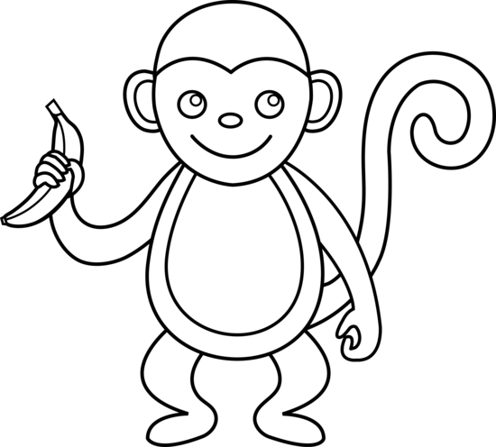 clip black and white stock Ape clipart easy.  collection of monkey.