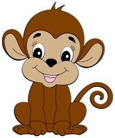 banner Monkey clipart. Cute clip art pinterest.