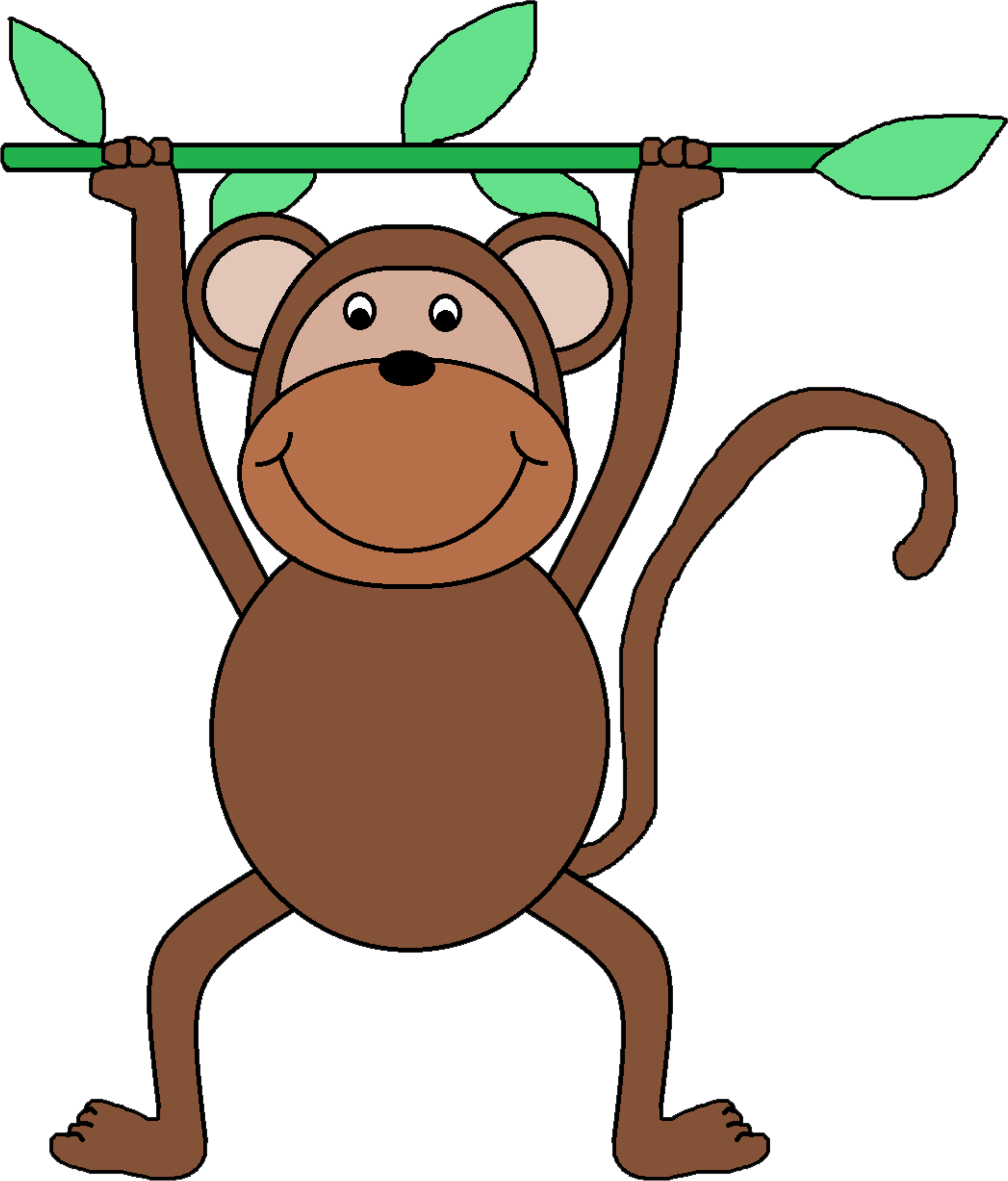 clipart free download Monkey clip art big. Monkeys clipart basic.