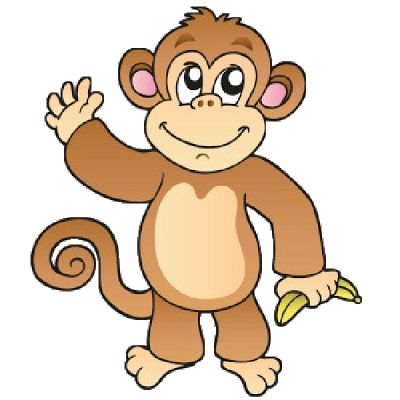 black and white Monkey clipart. Free cliparts download clip