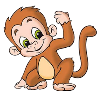 svg transparent stock Funny baby monkey pictures. Monkeys clipart