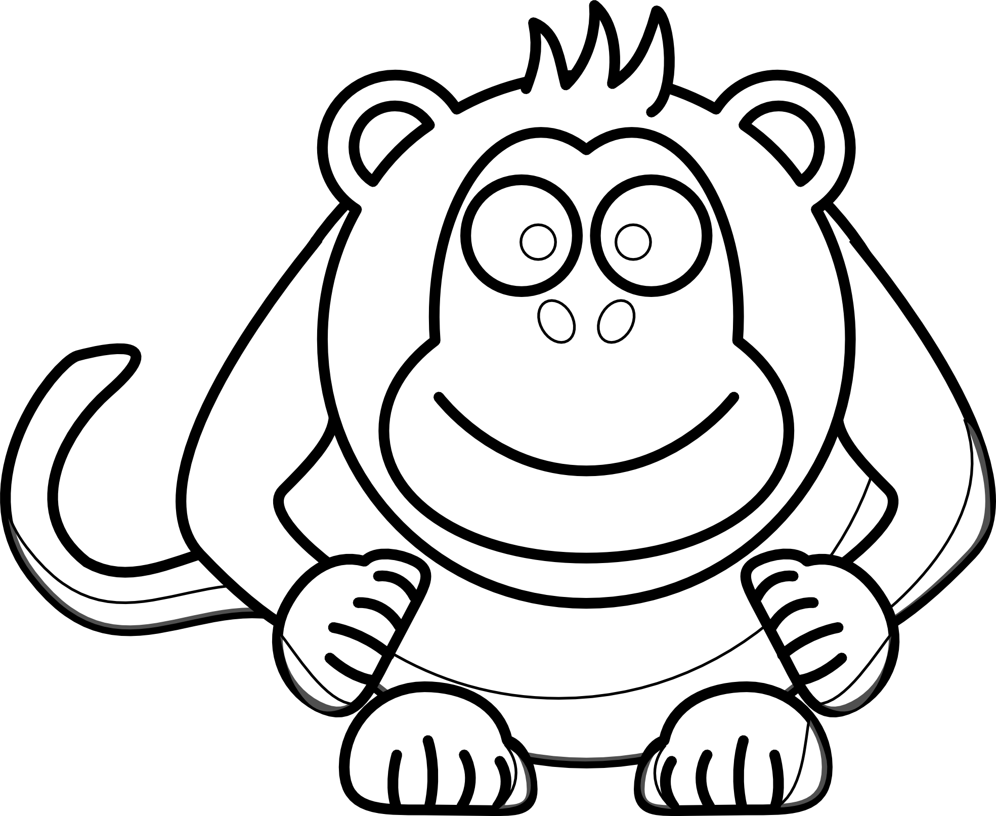 clip freeuse download Monkey Clip Art Black And White