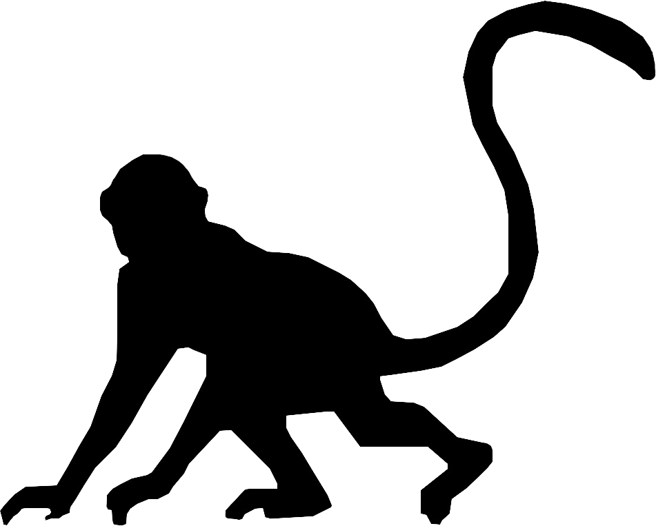 banner black and white download Monkey Head Silhouette at GetDrawings