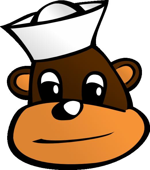 banner library Sailor clip art at. Monkey clipart cap.