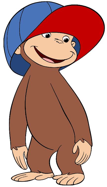 banner free Monkey clipart cap. Curious george clip art.
