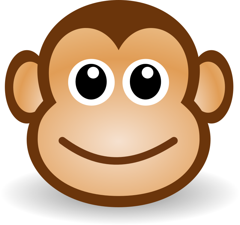 image royalty free stock Yes clipart animated. Funny monkey face medium