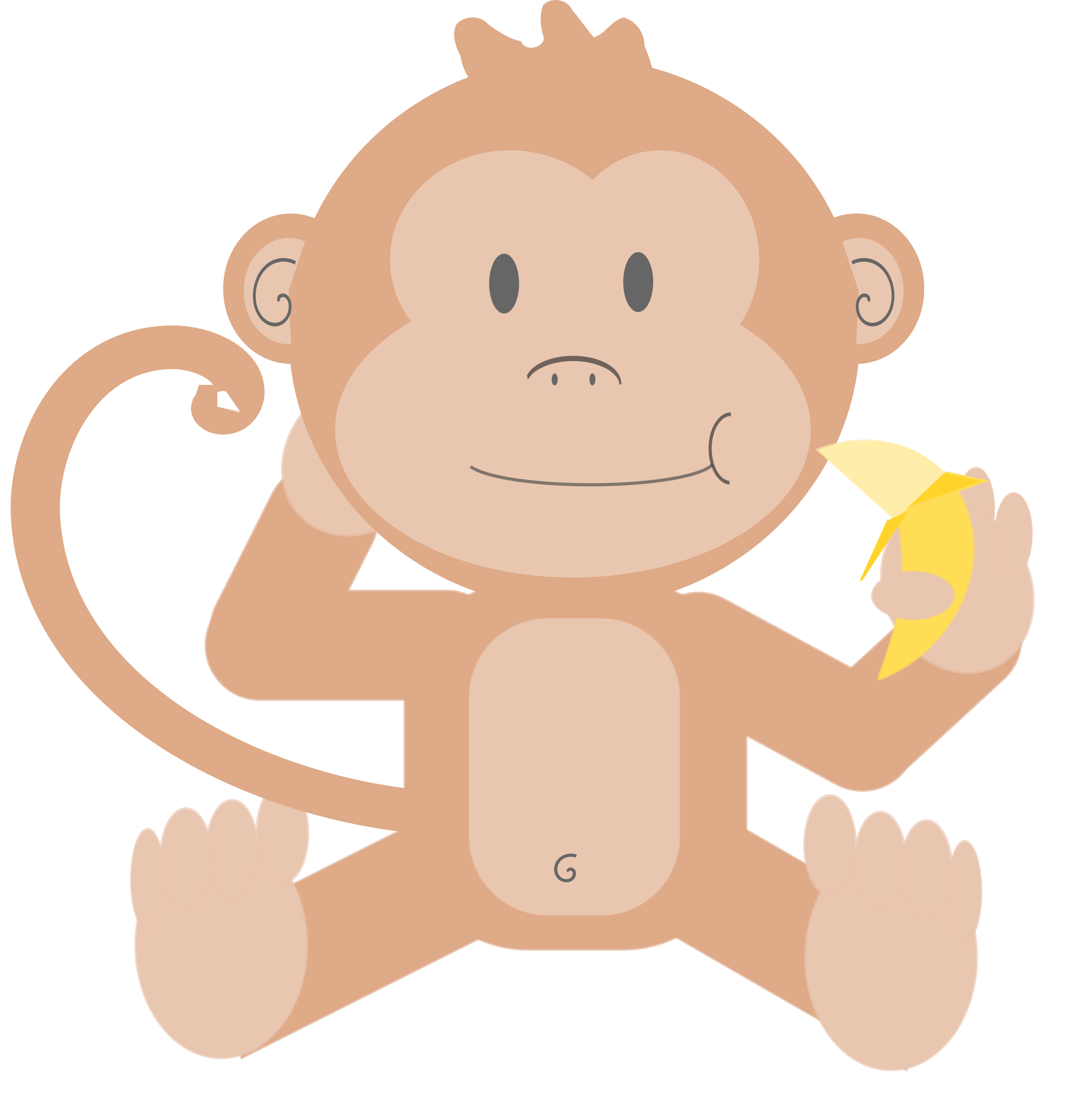 graphic freeuse download Ape clipart cute. Cartoon monkey without background