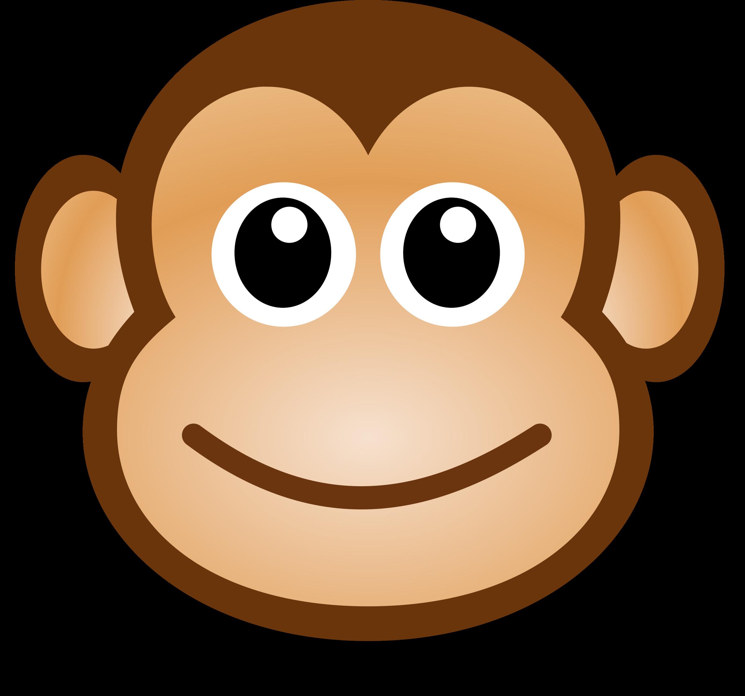 banner Monkeys clipart toy. Funny monkey face big.
