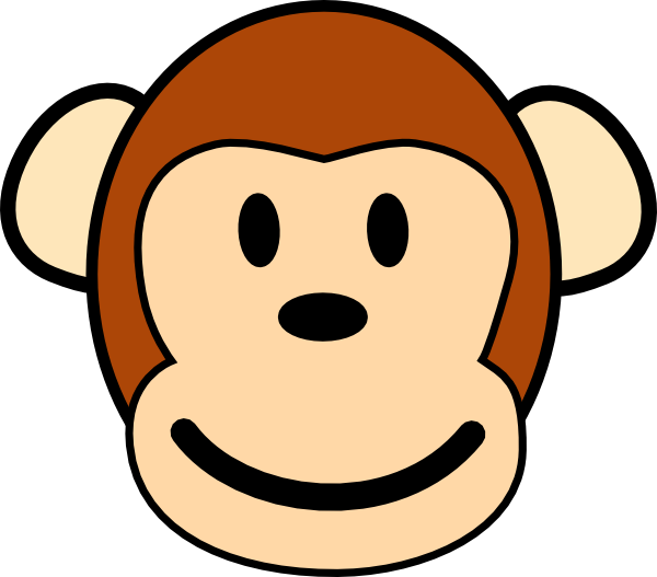 jpg transparent library Happy Monkey Face Clip Art at Clker