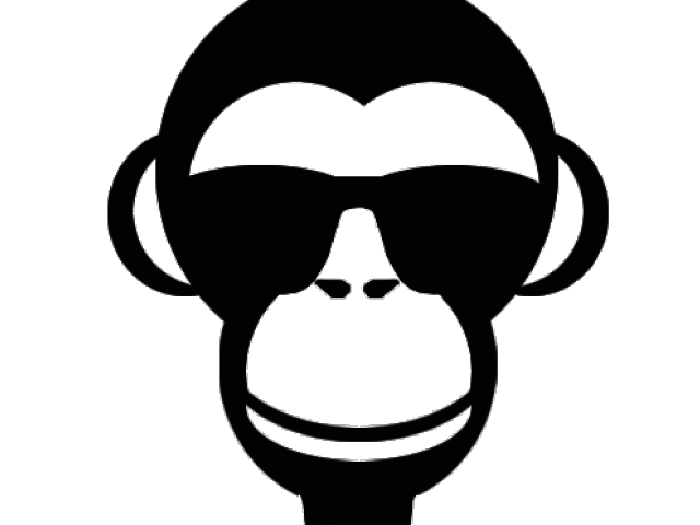 picture transparent library Monkey face clipart black and white. X carwad net
