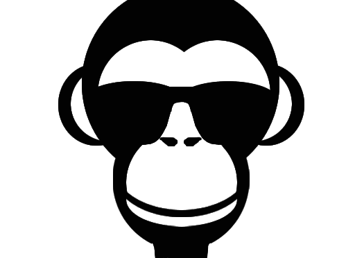 download Monkey face clipart black and white. Excellent cage beautiful with