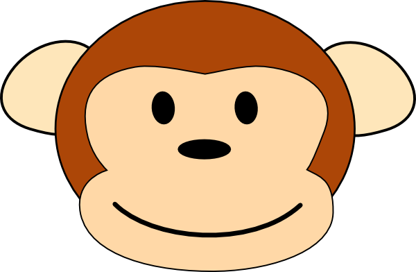 picture free Monkey Head Pic Clip Art at Clker