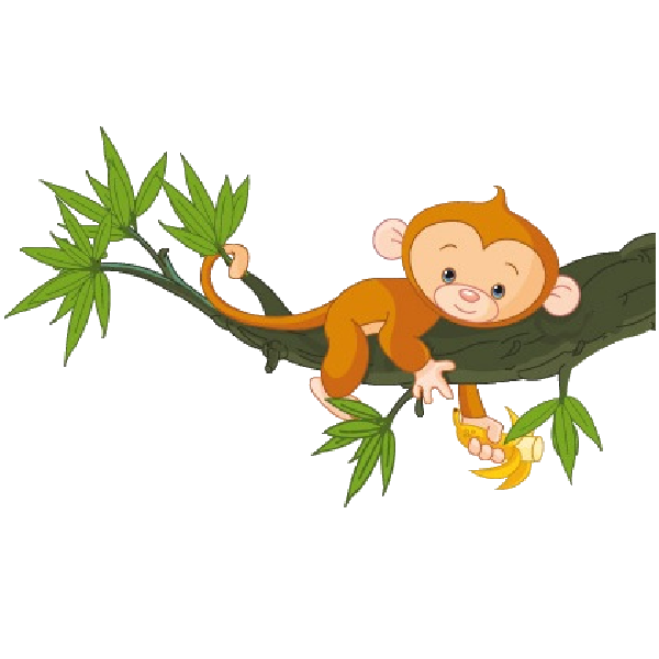 banner black and white library Cute Funny Cartoon Baby Monkey Clip Art Images