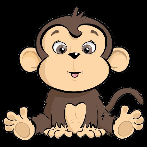 graphic transparent Ape clipart body. Cartoon monkeys pinterest monkey