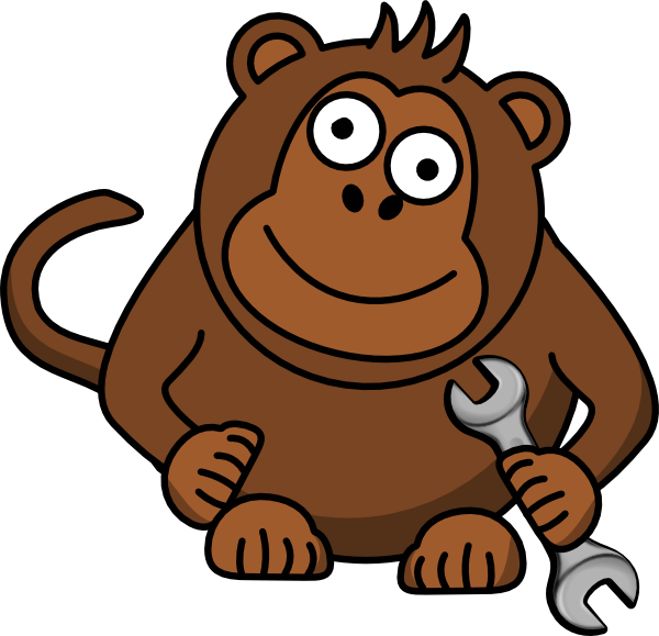 clip art black and white library Monkey wrench clipart. Clip art at clker