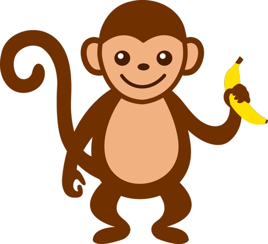 vector stock Free monkey clip art. Ape clipart kid
