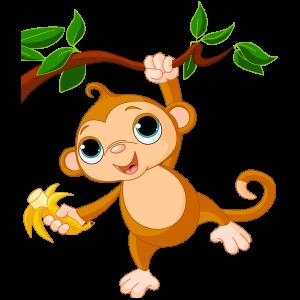 jpg free library Monkeys clipart. Cartoon cute funny ba.
