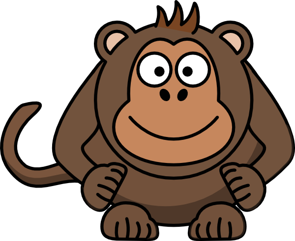 clip art freeuse stock Monkeys clipart. Light brown monkey clip