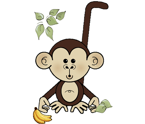clip art free library Baby shower invitations all. Ape clipart mankey