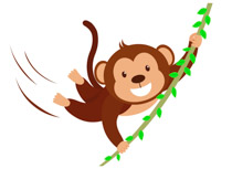 svg library download Free monkey clip art. Monkeys clipart basic.
