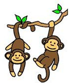 clip art freeuse download Swinging monkey cartoon best. Ape clipart easy.
