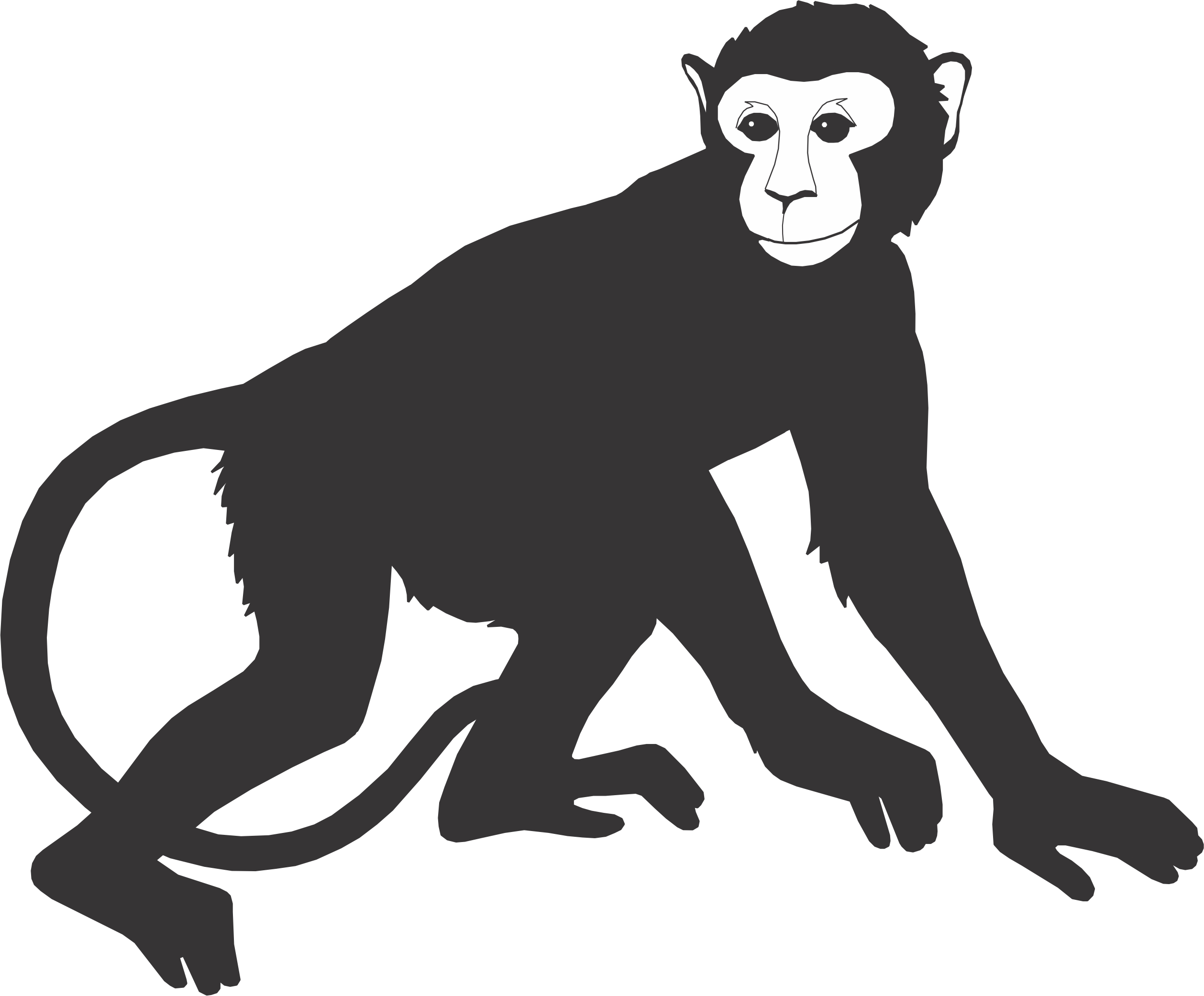 picture transparent Ape clipart monky. Free monkey silhouette download