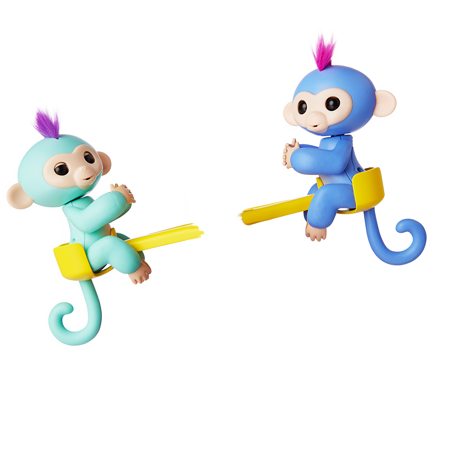 vector freeuse stock Fingerlings by wowwee friendship. Monkeys clipart toy.