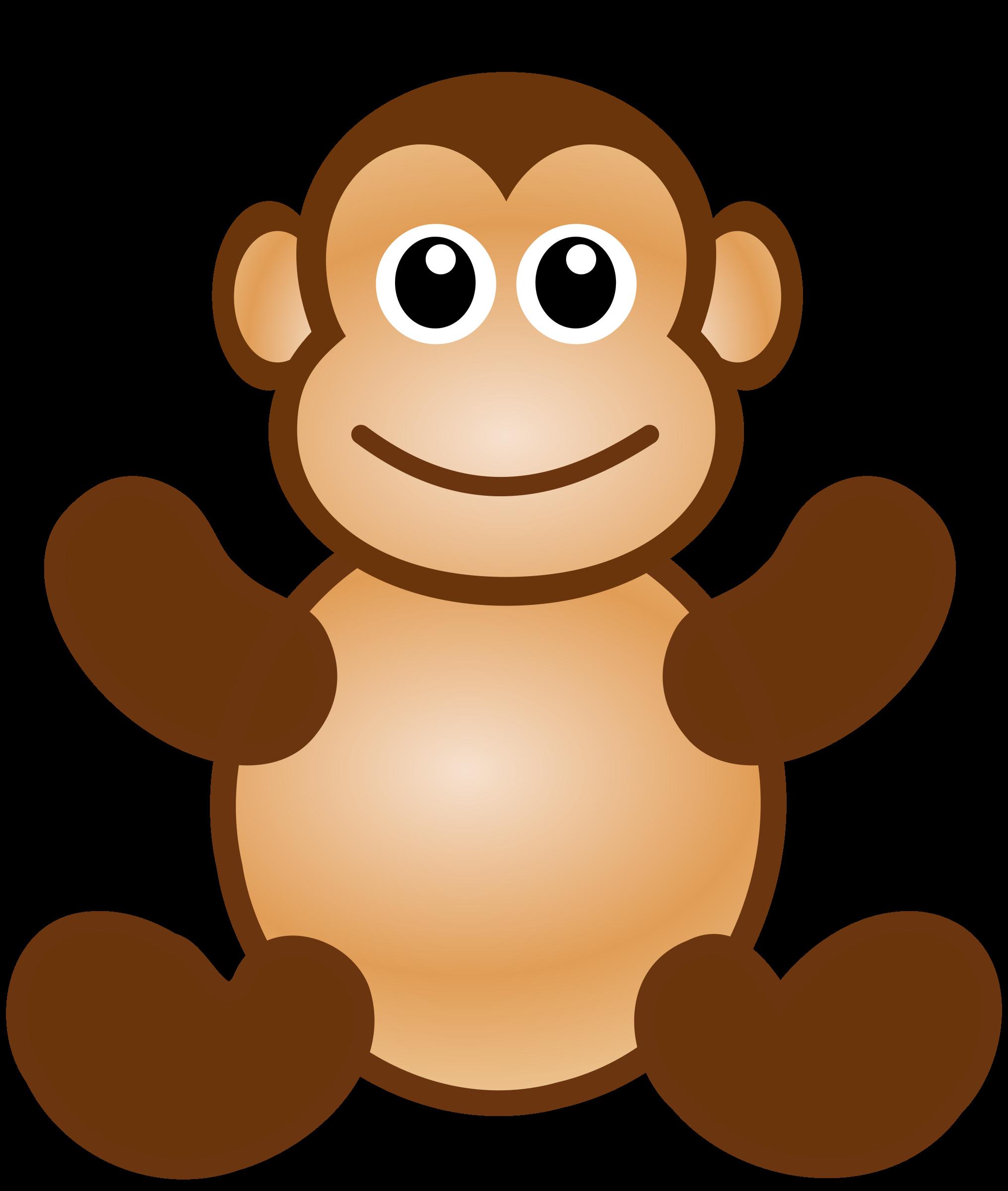 svg freeuse library Monkey toy big image. Ape clipart chimpanzee