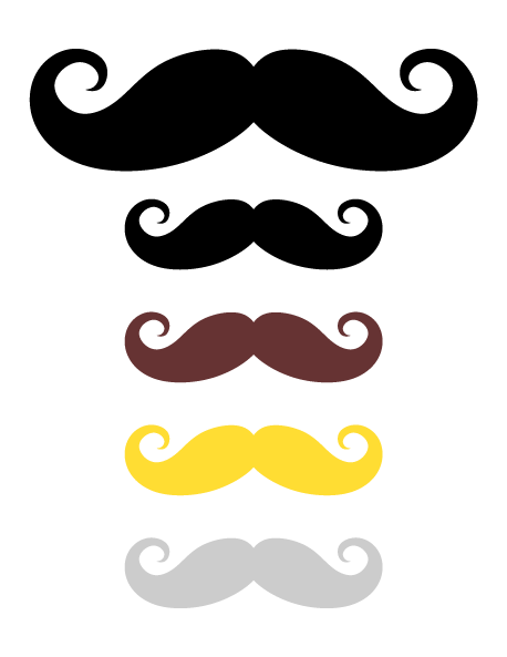 vector black and white library Monocle clipart dap. Moustache prop free on.