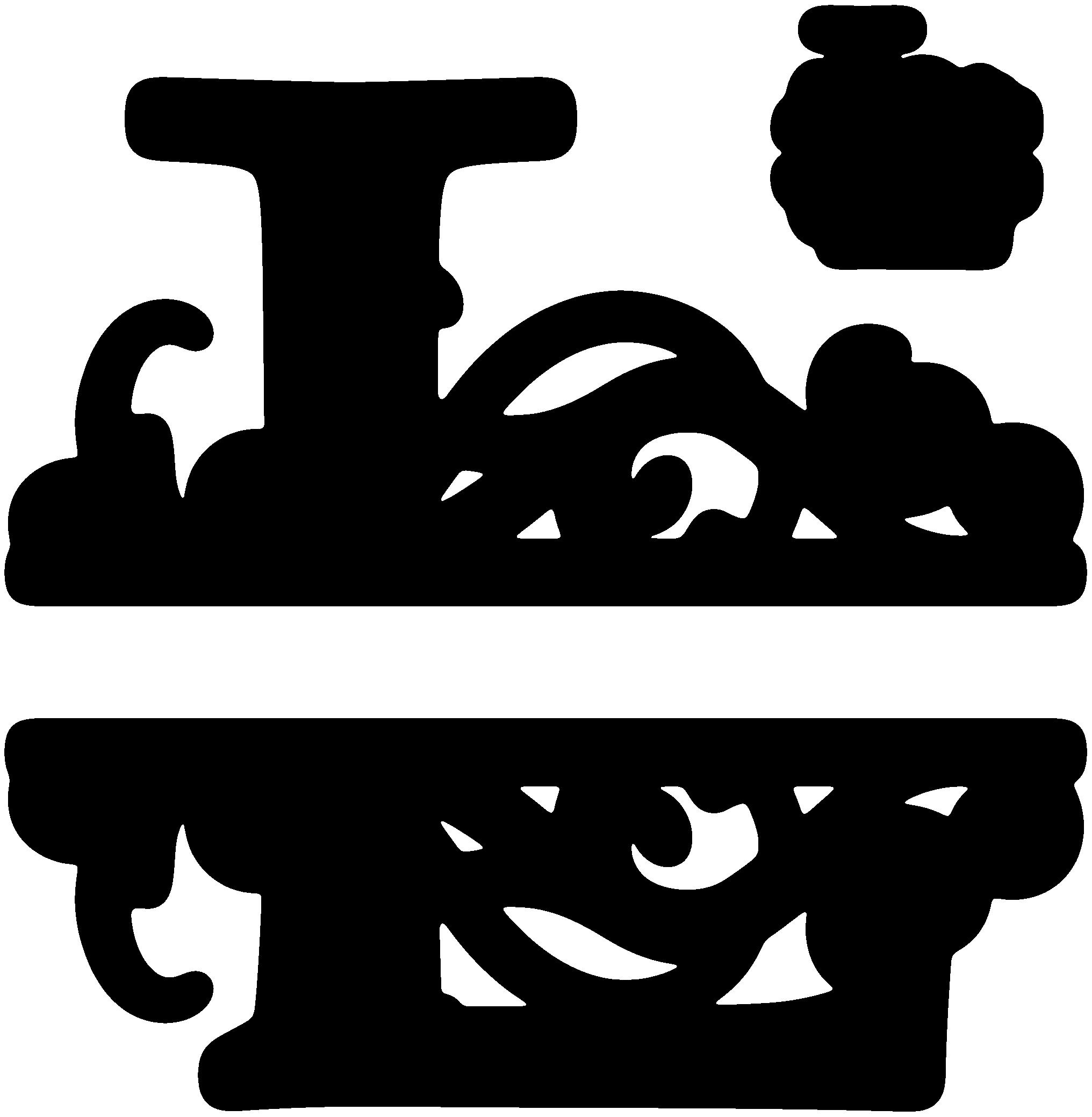 clip art transparent stock L clipart fancy letter. Split monogram sds svgattic.