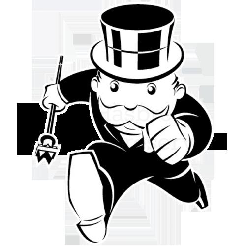 black and white stock monopoly drawing graffiti art #99946736