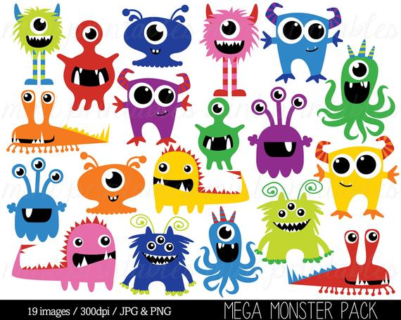 clipart black and white download Monsters clip art birthday. Monster clipart.
