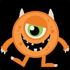 image royalty free Valentine's clipart orange monster. Halloween svg my miss