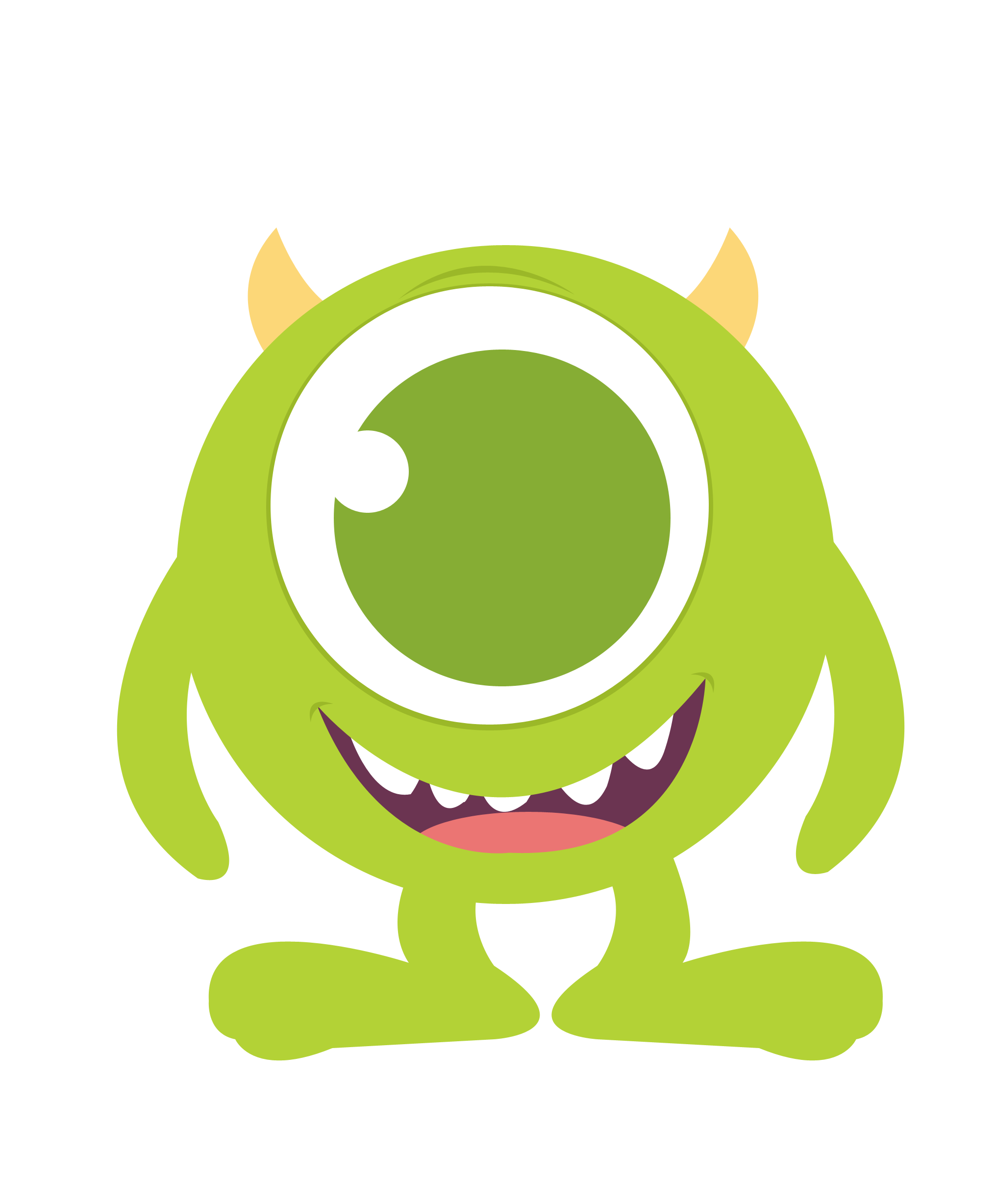 clip art royalty free Baby mike monster inc. University clipart kid