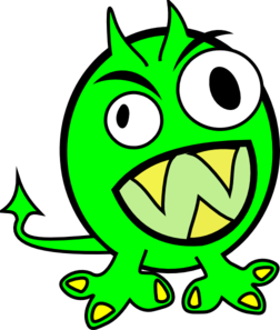 graphic library library Monster clipart scared. Temperament panda free images.