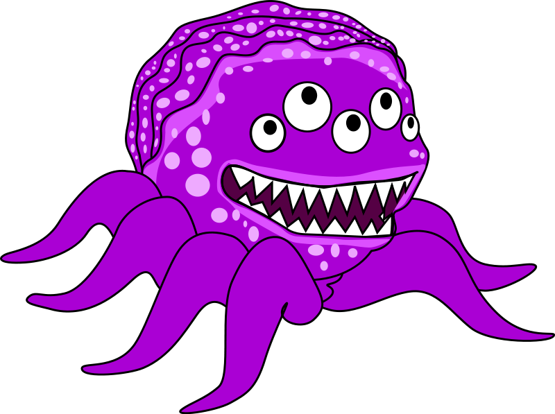 clipart transparent library Monsters clip art free. Monster clipart scared.