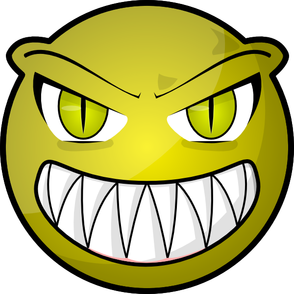 vector freeuse stock Monster clipart scared. Scary face cartoon free.