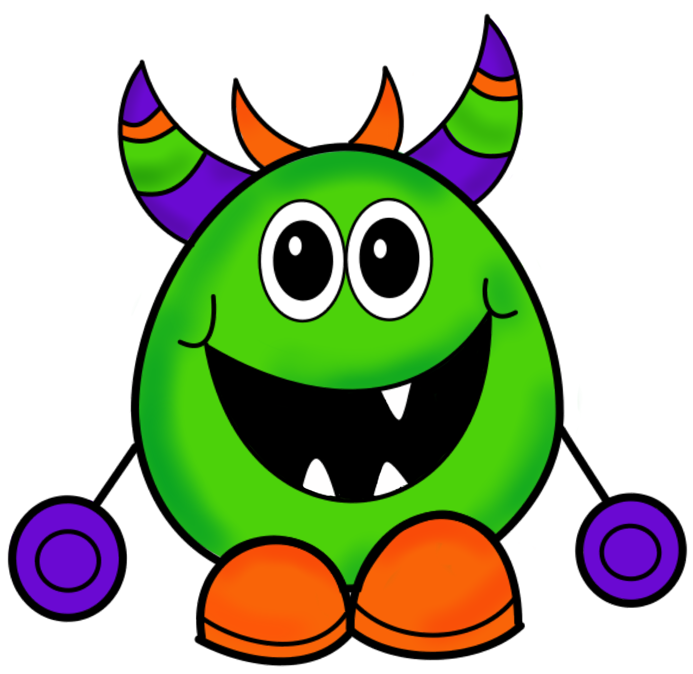 png Halloween free images clipartix. Monster clipart scared.