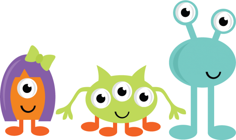 clipart transparent library Cute monsters svg cut. Monster clipart tall monster.