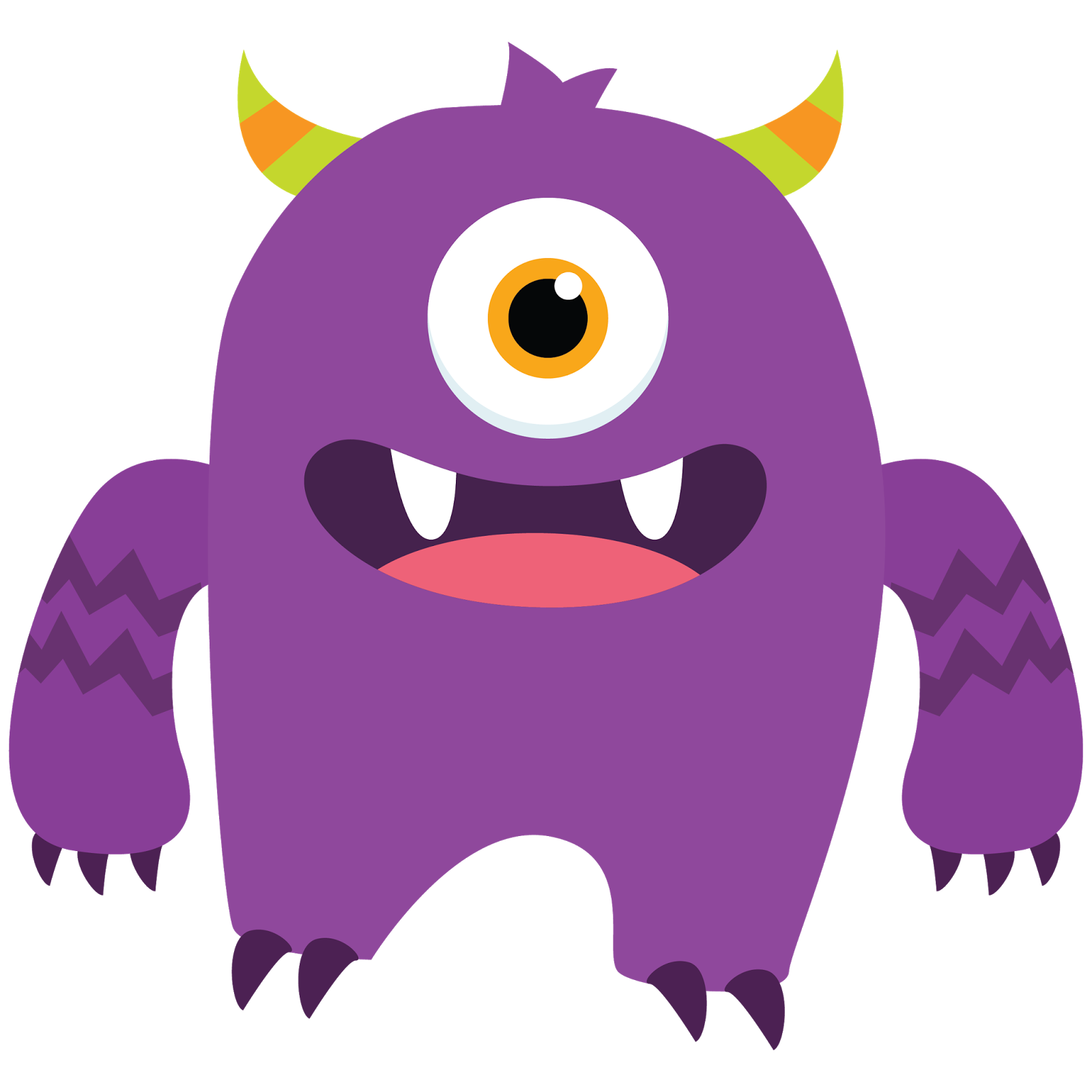 jpg freeuse library Monster clipart. Free images cute pinterest.