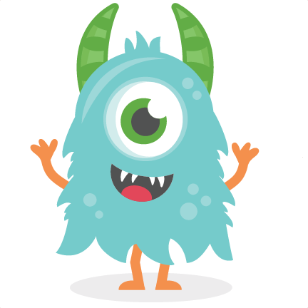 svg free library Blue png hd mart. Transparent monster.
